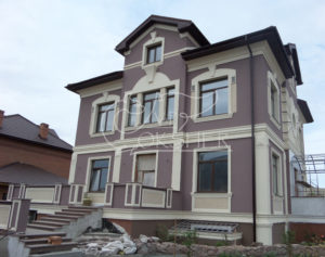 терасса с фасадным декором