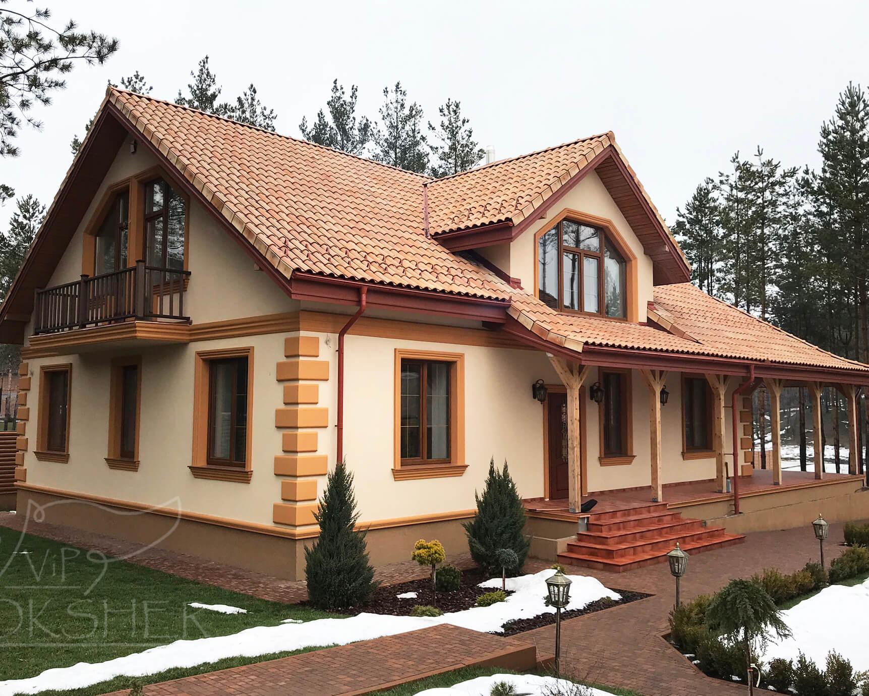 фасадный декор из пенопласта армированный сеткой